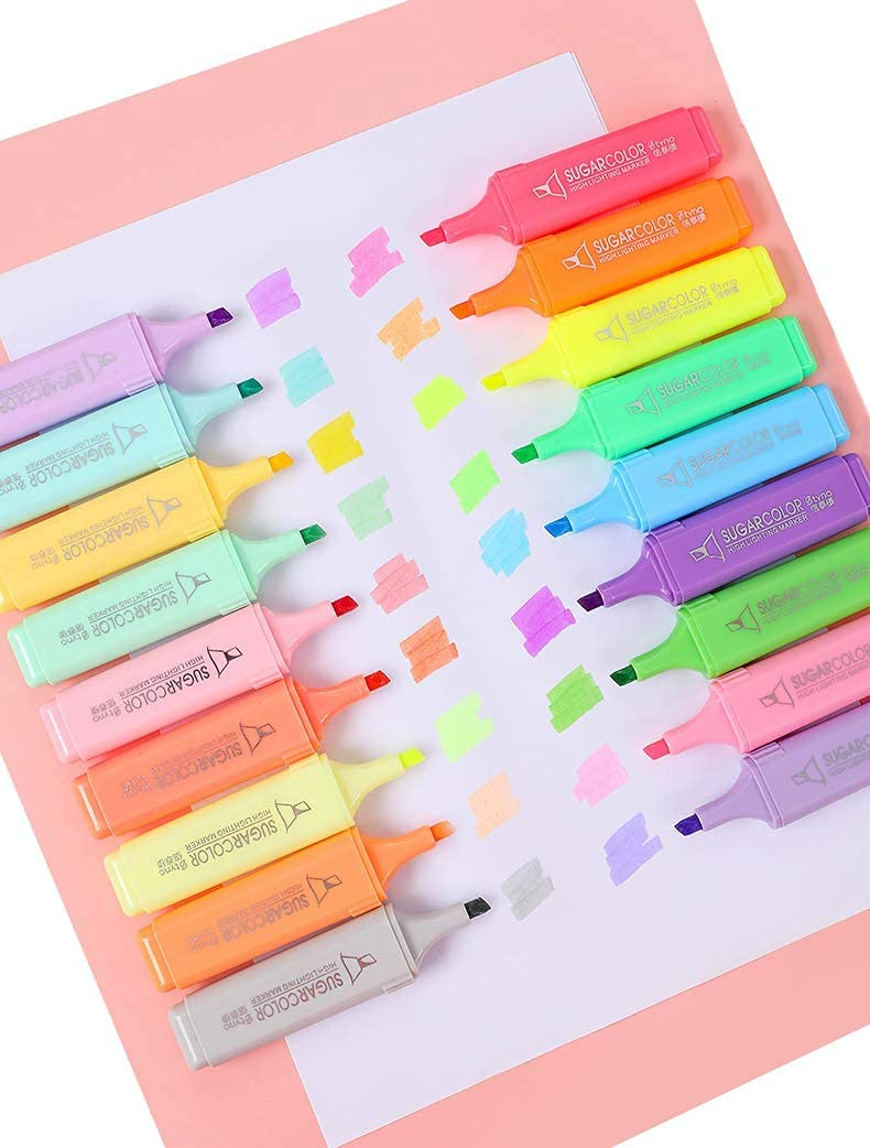 CMHX Highlighter broad Tip chisel tip 18 Assorted Pastel Free Shipping Cheap Bargain Austin Mall Gift f Color