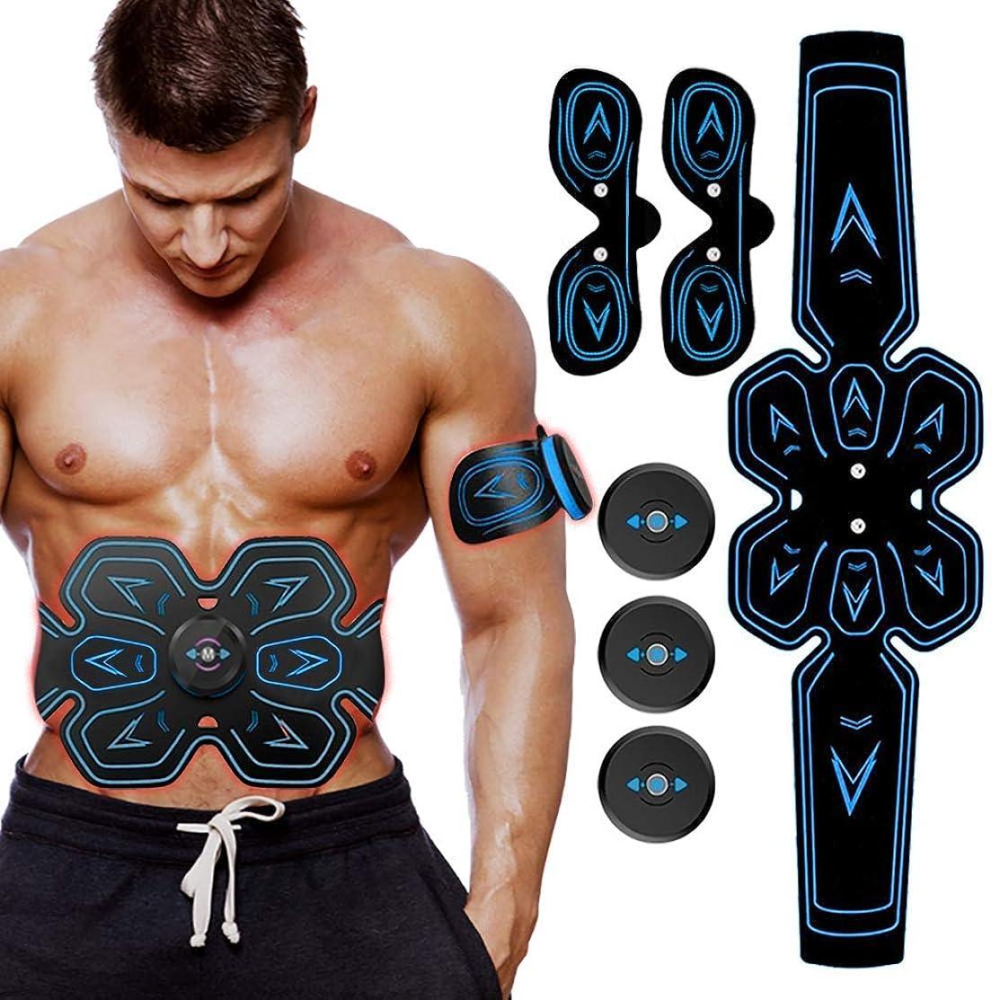 拍手する快適まあ電気腹部筋肉刺激装置、ABSウエストトレーナーフィットネス減量体重減少マッサージャー用男性と女性の脂肪燃焼