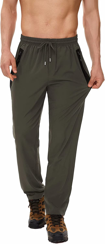 Yundobop Luxury Men's Workout Athletic Pants Zipper Pockets B Open Philadelphia Mall with