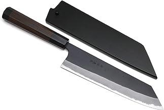 Yoshihiro Blue High Carbon Steel #1 Masashi Kurouchi Series Kiritsuke Japanese Multipurpose Knife (7'' (180mm) & Saya)