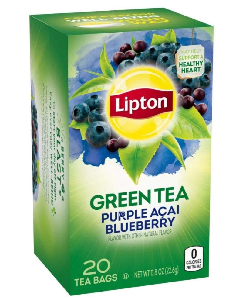 Lipton Green Tea with Fashion Blueberry Purple Ranking TOP15 Pack Acai of 3