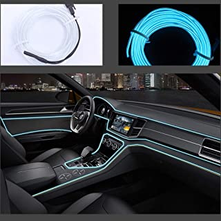 El Wires Car kit 1m/3.3FT Cold Interior Trim Bright Car Decorative Atmosphere Neon Light Tube Circle Decoration with 6mm S...