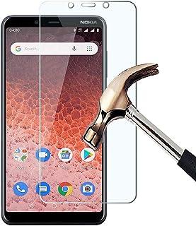 KP TEKNOLOGY Nokia 1 Plus skärmskydd med härdat glas enkel bubbelfri installation HD ultratydligt okrossbart med 9H hårdhe...