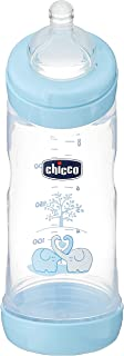 Chicco Wellbeing Pp Boys Bottle 0m+, 250ml, Blue