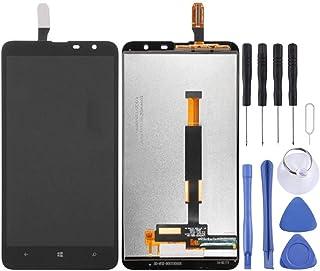 قطع غيار QFH شاشة LCD ومحول رقمي المجموعة الكاملة لنوكيا لوميا 1320 (أسود) مجموعة ثنائية للشاشات الهاتف المحمول المحمول (ا...
