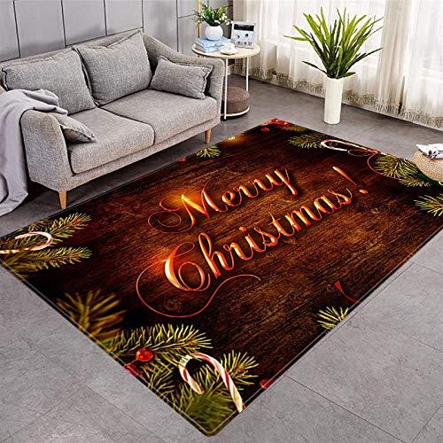 DRTWE Alfombra de terciopelo suave para sala de estar, dormitorio, antideslizante, cálida, para yoga, meditación, para niños, 100 x 150 cm