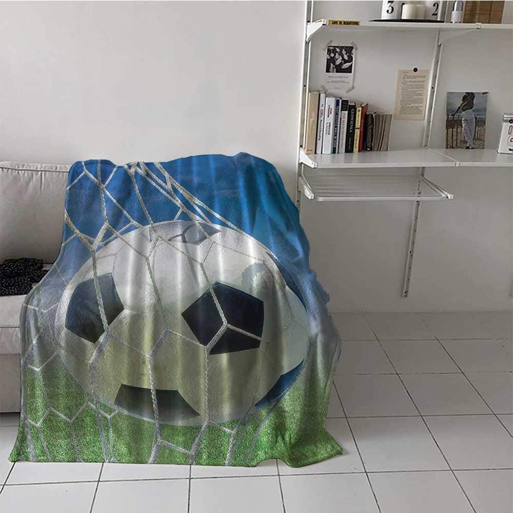 excellence Soft Blanket Detroit Mall Throw Sports Soccer Velvet Plush
