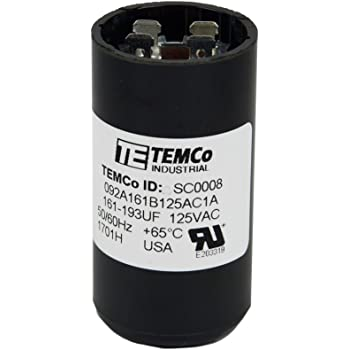 124-149 MFD uf 110-125 VAC Round Electric Motor Start Capacitor • Made in USA