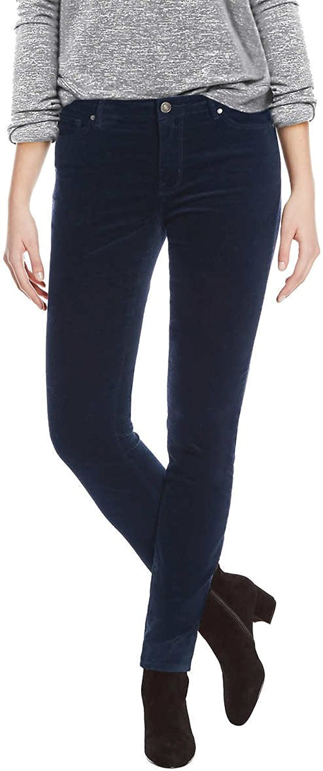 Buffalo Ladies Velvet Pant With Stretch (Navy, 10 30)