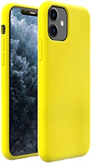 ZUSLAB Nano Silicone Case Compatible with Apple iPhone 11 Shockproof Gel Rubber Bumper Protective Cover - Yellow