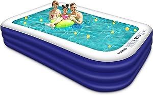 Inflatable Swimming Pool, YUIKIO Upgraded 118