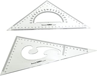 BronaGrand Large Triangle Ruler Square Set, 30/60 and 45/90 Degrees, Set of 2