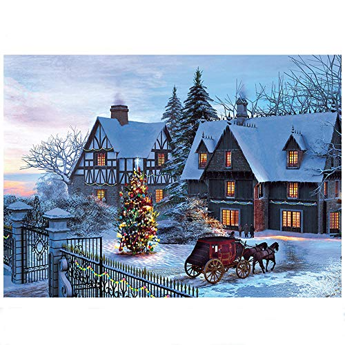 Puzzles for Adults 1000 Piece - Jigsaw Puzzles 1000 Pieces for Adults or Kid Quiet Snowy Night - Jigsaw Puzzles Indoor Toy - 70 *50 cm