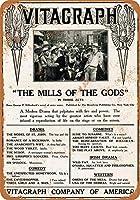 2個 20 * 30CMメタルサイン-1912Vitagraph The Mills of the Gods メタルプレート レトロ アメリカン ブリキ 看板