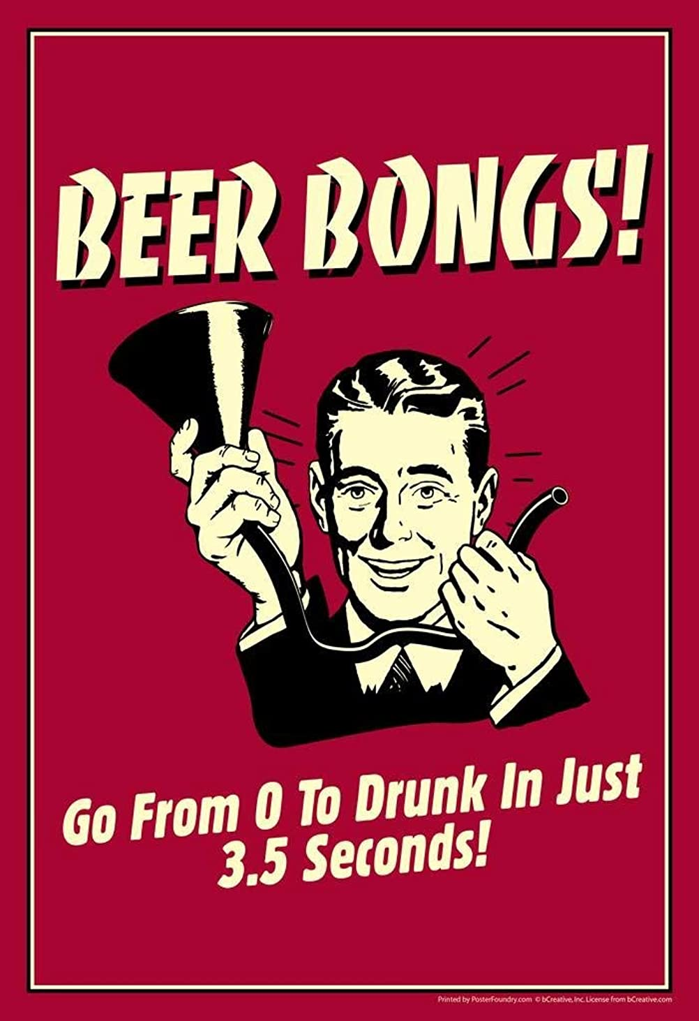 はしご震えるエミュレートするHypothesis Beer Bongs! from 0 to Drunk in Just 3.5 Seconds! Retro Humor 壁の装飾用の30x40cmティンサインポスター ブリキ看板