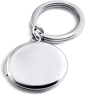 Christmas Round Locket Keychains for Women Key Chain for Mens Photo Lockets Jewelry