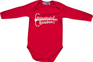 Shirtinstyle Langarm Babybody, Heimathafen Lissabon, Lieblingsstadt, Heimatort, Familie, Urlaub, City, Stadt, Sprüche Body Longsleeve Long Strampler