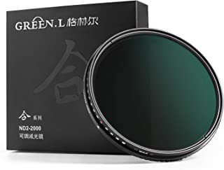 37mm Variable ND Filter, GREEN.L ND2 to ND2000 Fader Neutral Density Filter, HD Schott Glass with MRC16-Layer, Nano-Coatin...