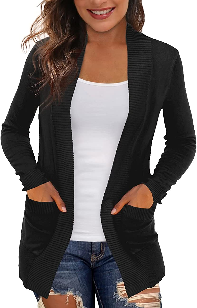 REDHOTYPE Women's Cardigans with Pockets Casual Lightweight Open Front Cardigan Sweaters for Women (S-2XL)