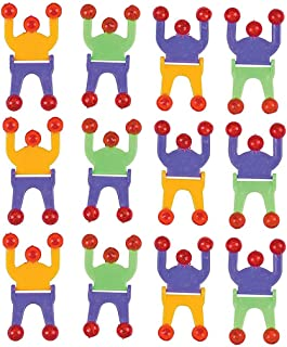 Kicko Wall Climber Crawler Sticky Men - 2.75 Inches - Pack of 12 - Sticky Climbers Assorted Colors - for Kids - Party Favors, Bag Stuffers, Fun, Toy, Prize, Pinata Fillers