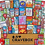CraveBox Care Package (60 Count) Snacks Cookies Bars Chips Candy Ultimate Variety Gift Box