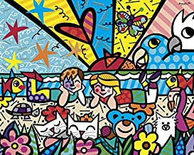In the Park Romero Britto Abstract Contemporary Animals Kid Children Poster (Choose Size of Print)