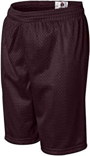 Badger Youth Mesh/Tricot Short (Maroon) (M)