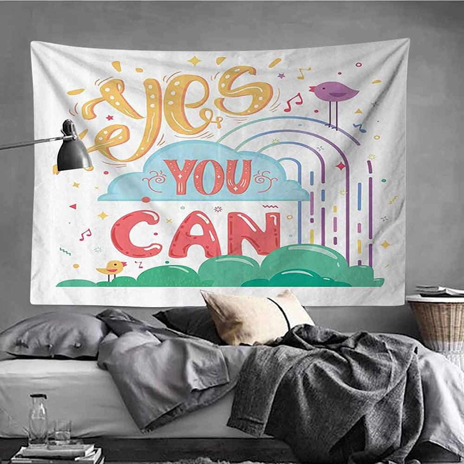 AndyTours Wall Tapestry for Bedroom,Quotes Decor Collection,Tapestry for Home Decor,70