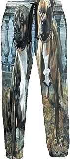 Cyloten Sweatpants American Staffordshire Pit Bull Dog Men's Trousers Breathable Baggy Sportswear Jogger Pants
