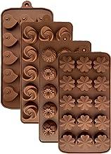 قوالب سيليكون الشوكولاتة الحلوى، قابلة لإعادة الاستخدام على شكل زهرة سيليكون حلوى الخبز قوالب مكعبات الثلج صواني الحلوى صن...