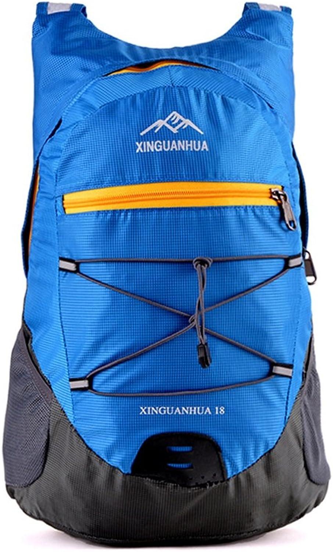 Multi-functional Outdoor Mountaineering Backpack, Wear-resistant Waterproof Nylon Folding Camping Bag Travel Leisure Ucksack, Unisex Breathable Double Shoulder Knapsack (bluee)