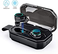 Wireless Bluetooth Earbuds,True Wireless Earbuds TWS Stereo Bluetooth 5.0 Headphones with Bass Earbuds Noise Cancelling,IPX7 Waterproof Earbuds withwith 3000mAh Charging Case