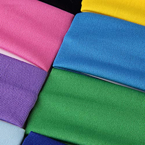 Bujingyun Sport Yoga elastic headbands for Women,Teens,Girls-12 Mixed Colors