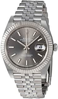 Datejust Dark Rhodium Dial Automatic Men's Jubilee Watch 126334RSJ