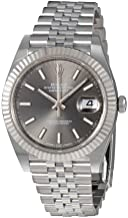 Rolex Datejust Dark Rhodium Dial Automatic Mens Jubilee Watch 126334RSJ