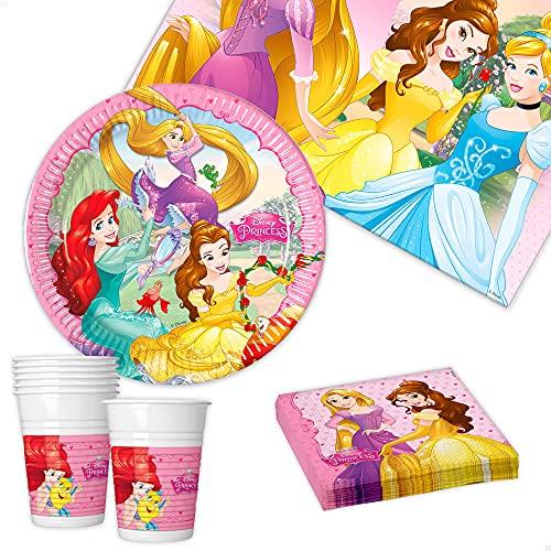 ColorBaby Disney Princess - Set menaje Fiesta 37 Piezas (8 Servicios)