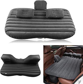 Premium Car Inflatable Bed, Back Seat Mattress Airbed for Rest Sleep Travel Camping Black for Most Cars, Sedans SUV and Mini Van