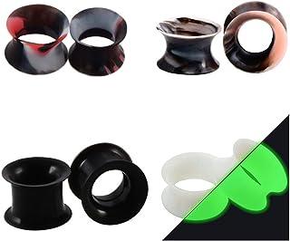 Huacan 8 Piezas Dilataciones Orejas de Silicona Pung-- 4 Piezas Ligero+ 2 Piezas Luminoso
