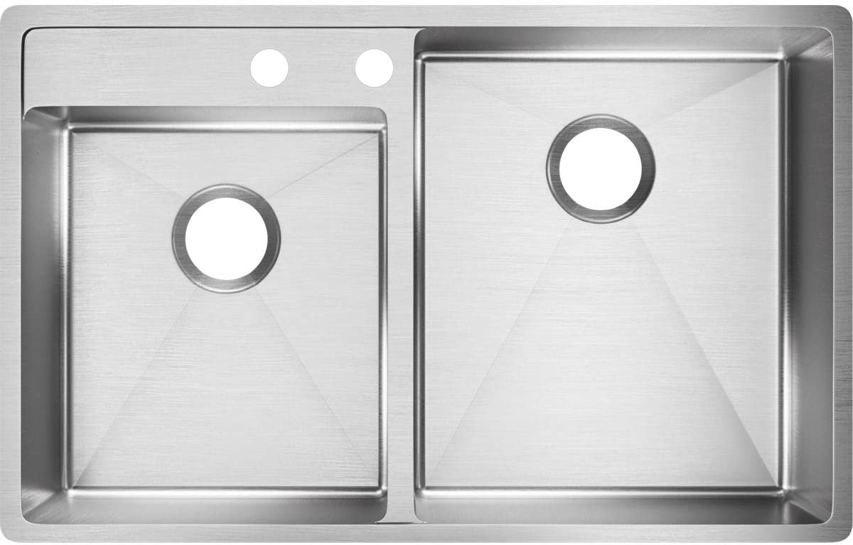 Elkay ECTRUD31199L2 Manufacturer OFFicial shop OFFicial mail order Sink Left Water Holes 2 Deck Faucet
