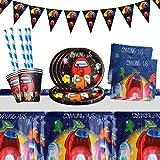 Yisscen Juego de vajilla para fiestas, decoración de cumpleaños para niños, fiestas de ...
