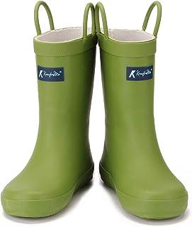 JIPILI Dinosaur Waterproof Rubber Kids Toddler Rain Boots for Girls Boys
