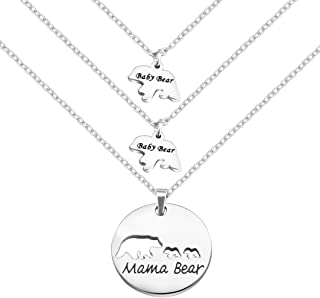 Mama Bear and Baby Bear Necklace Set Mother Daughter Necklace Mom Jewelry