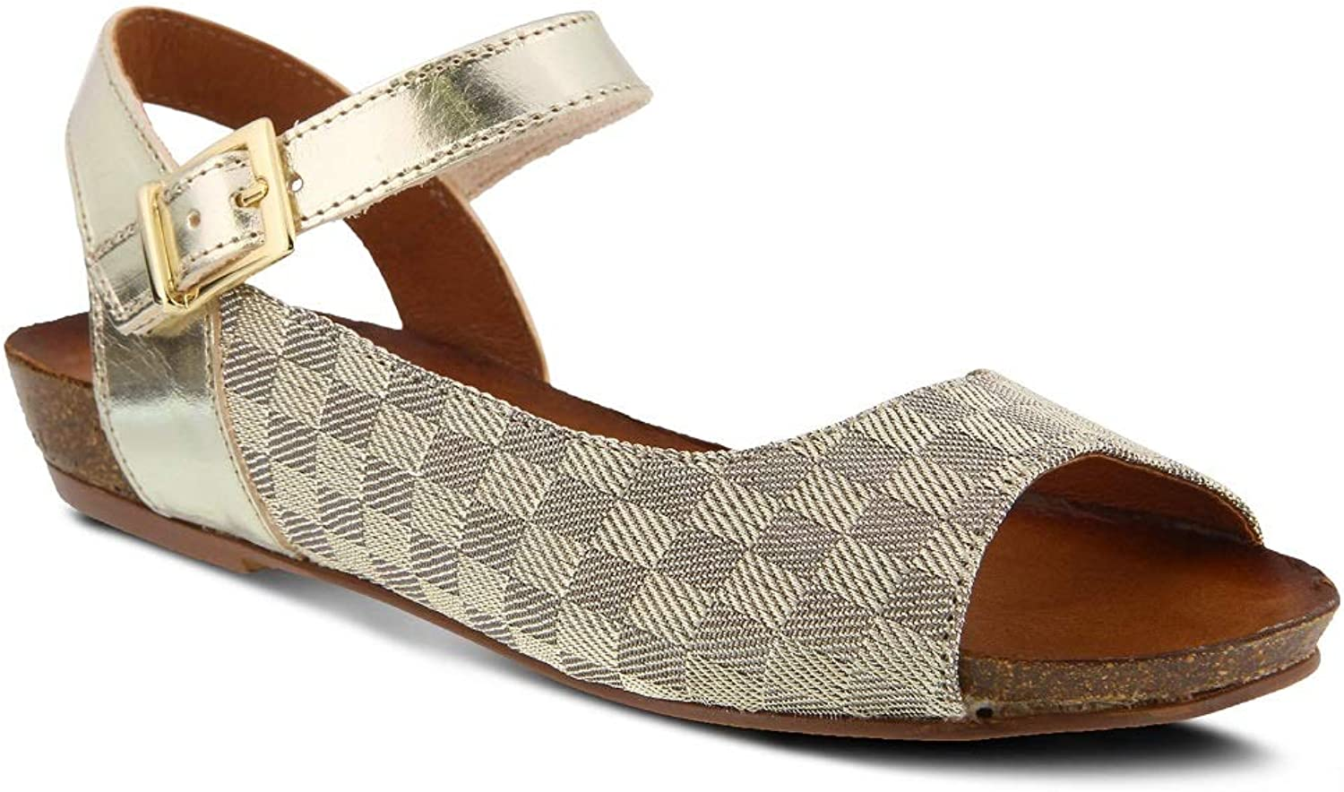 Spring Step Women's Asimona Sandals   color gold   Leather Sandals