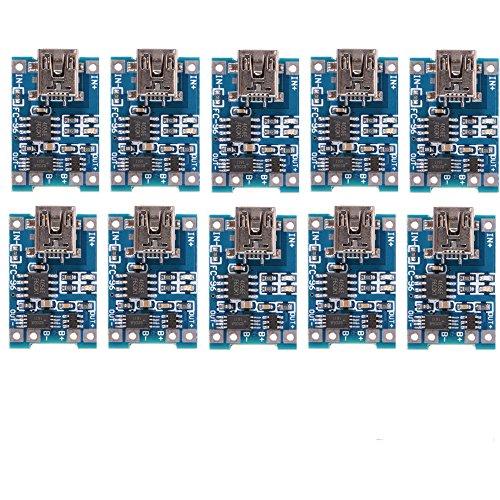 10pcs 1A 5V Mini USB TP4056 Lithium Battery Power Charger Bo