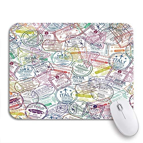 Gaming mouse pad pass visum stempel reisen in verschiedene länder europa rutschfeste gummiunterlage computer mousepad für notebooks mausmatten
