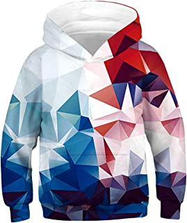 Boys Girls 3D Print Casual Pullover Hoodies Hooded Sweatshirts Tops Blouse with Pocket Age 6-16