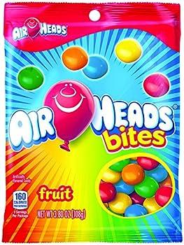 Airheads Bites Candy Peg Bag Fruit Non Melting 3.8 oz  Bulk Pack of 12
