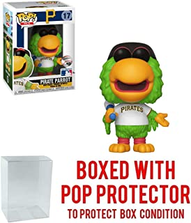 POP! Sports MLB Mascots Pittsburgh Pirates, Pirate Parrot #17 Action Figure (Bundled with Pop Box Protector to Protect Display Box)