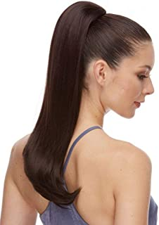 Pure Ponytail Color 4 Dark Brown - Sepia Wigs 20