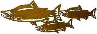 Oregardenworks Sockeye Salmon Fish Metal Wall Art, Fisherman, Fishing Decor, Wildlife, Rivers, Outdoorsman Gift